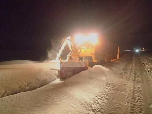 真夜中2時の除雪車見学ツアー