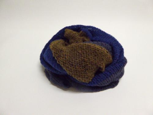 3colors knit snood ブラック×ネイビー×ブラウン