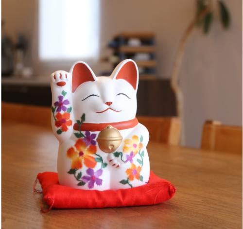 日本遺産・常滑焼 ちぎり絵和紙 萬助猫