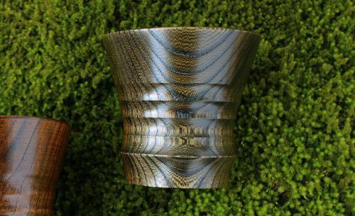 欅 フリーカップ【拭き漆・黒】
