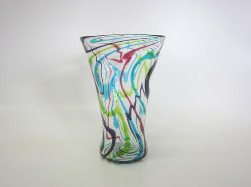 wave drowing glass No.1