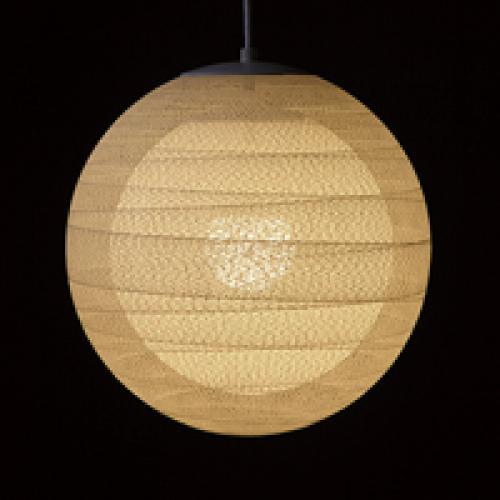 糸巻きシェードペンダントライト(うず・2重シェード/39㎝)