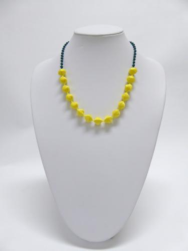 スフィアカラーコンビ ネックレス(黄×緑)