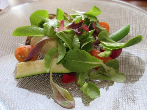 夕食プチコース「前菜のサラダ」
