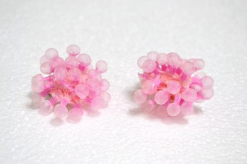 Quguri 「Spores」イヤークリップ(桃色)