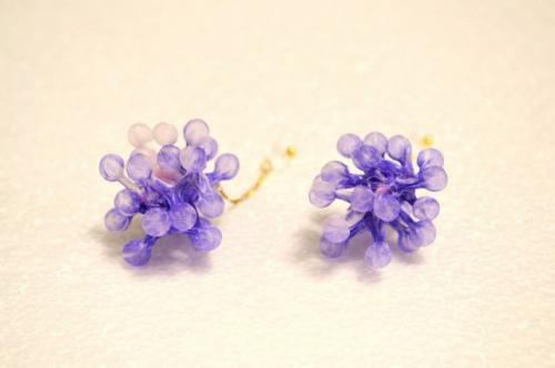 Quguri 「Spores」イヤリング(藤色)