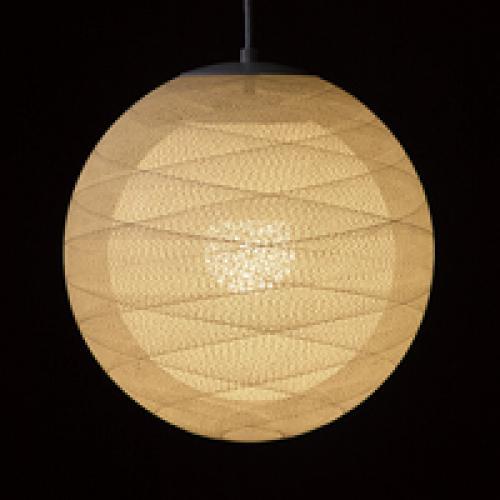 糸巻きシェードペンダントライト(四葉・2重シェード/39㎝)