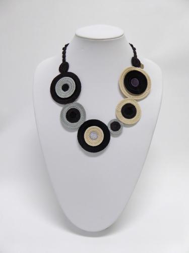 ディスクⅡ ネックレス(黒)