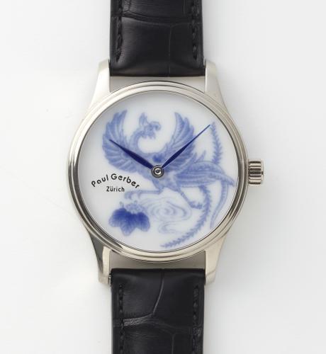 有田焼腕時計 「桐鳳凰」