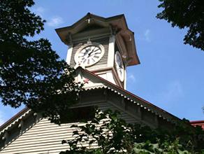 マンガの舞台となった「札幌時計台」