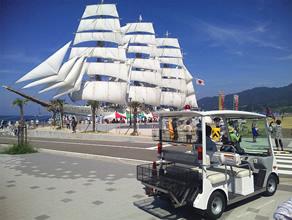 エコカートを使った市街地の回遊性向上を図る