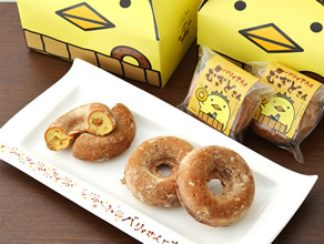 焼き麦ドーナッツ「バリィさんとむぎどちゃん」