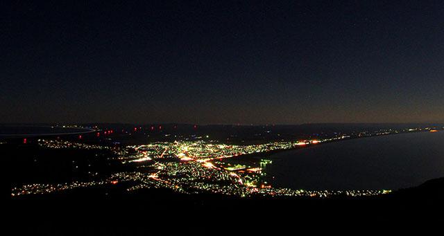 むつ市の夜景「アゲハチョウ」調査研究事業