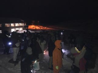 モニター事業(美幌峠でのパノラマ星空観測会開催風景)