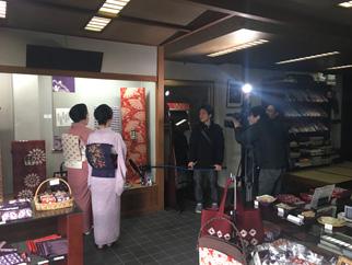 「盛岡芸妓」によるプロモーション動画撮影